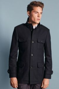 Navy Single Breasted Coat €126