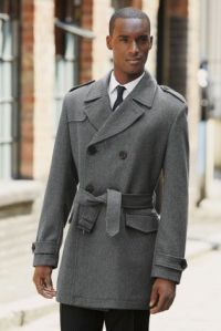 Grey Double-Breasted Trench Coat €155