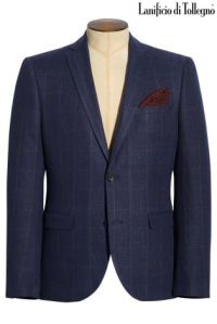 Navy Check Blazer €183