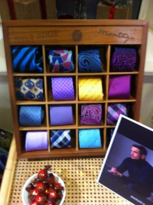 Wide selection of ties available