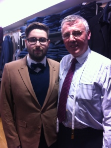 Me and Pat O'Byrne Shop owner